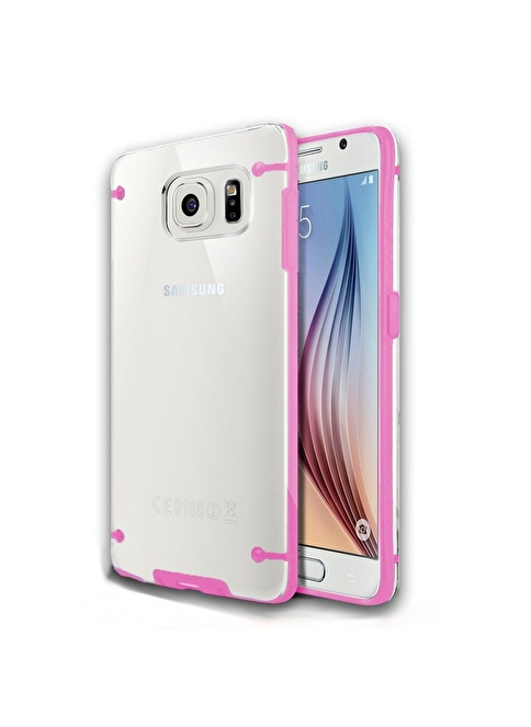 Microsonic Hybrid Transparant  Galaxy S6 Kılıf  Renkli